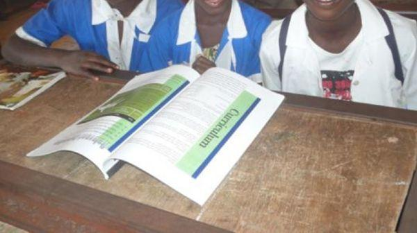 Kabafita pupils reading our School Brochure Feb'14