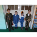 Soldiers and Land Army Girls