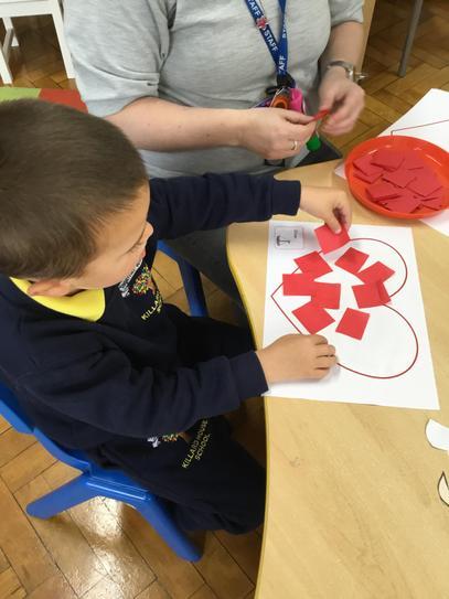 Oliver's tissue paper heart.
