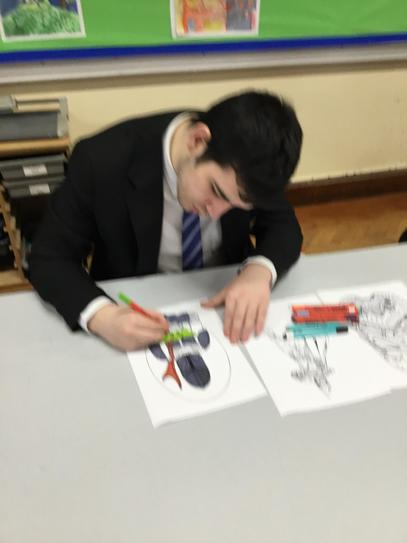 Harry colouring Star Wars pictures