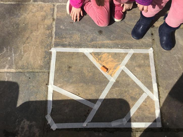 Grab some masking tape and make some shapes