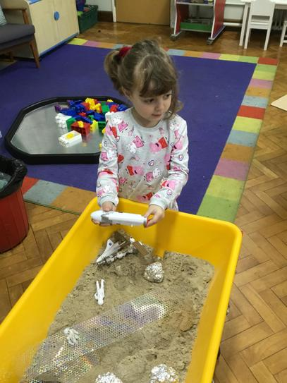 Is that the moon in our sand tray Hollie?