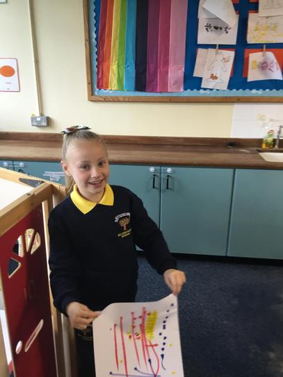 Darci was so proud of her artwork this week