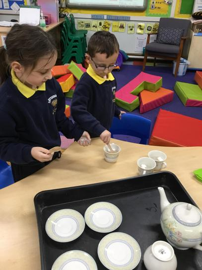 We had real tea in P2!