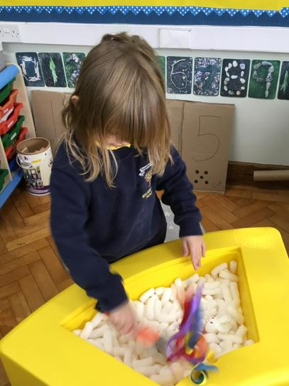 What did you find in the sensory tray Olivia?