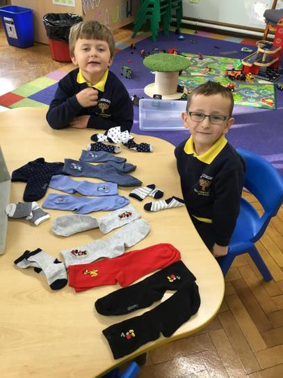 Super impressive sock matching boys, Mrs Caughey will have you helping with her laundry!