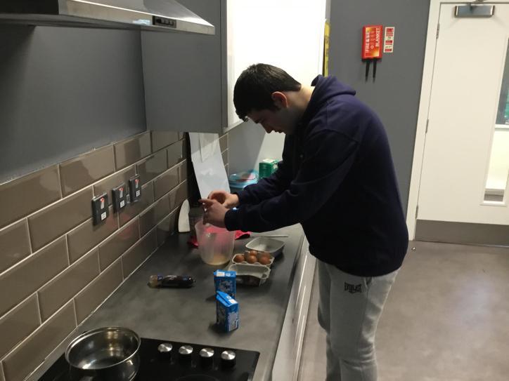 Harry made us scrambled eggs
