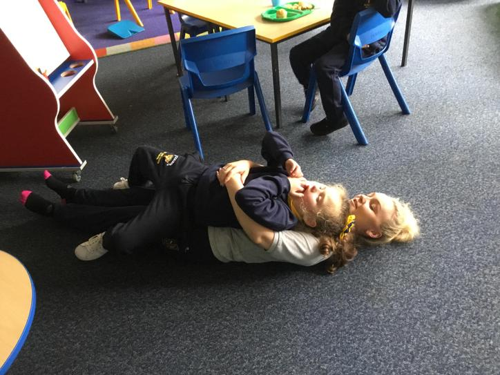 Charly was all tuckered out on Wednesday and thought Miss Patterson looked very comfy!