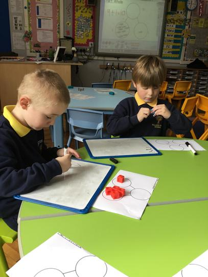 Mason & Lucas had 5 cubes and worked out lots of different ways you could partition 5