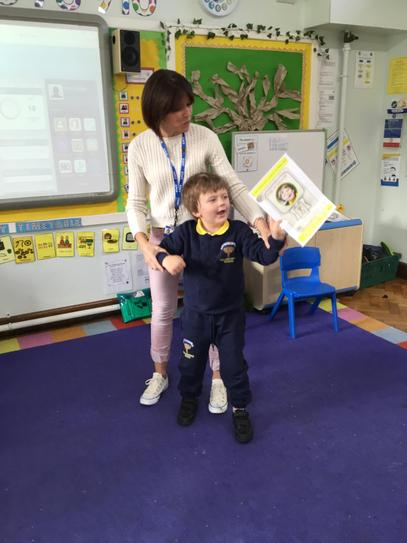 Our pupil of the week is Sam! He was super excited and told everyone he met! Well done Sam