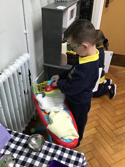 Jack doing the ironing!