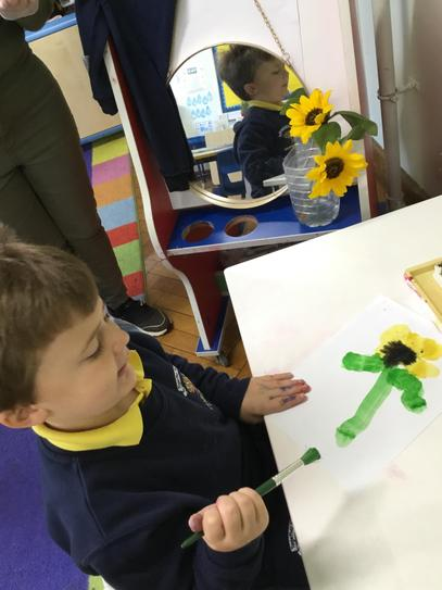 How impressive is Sam's sunflower painting?