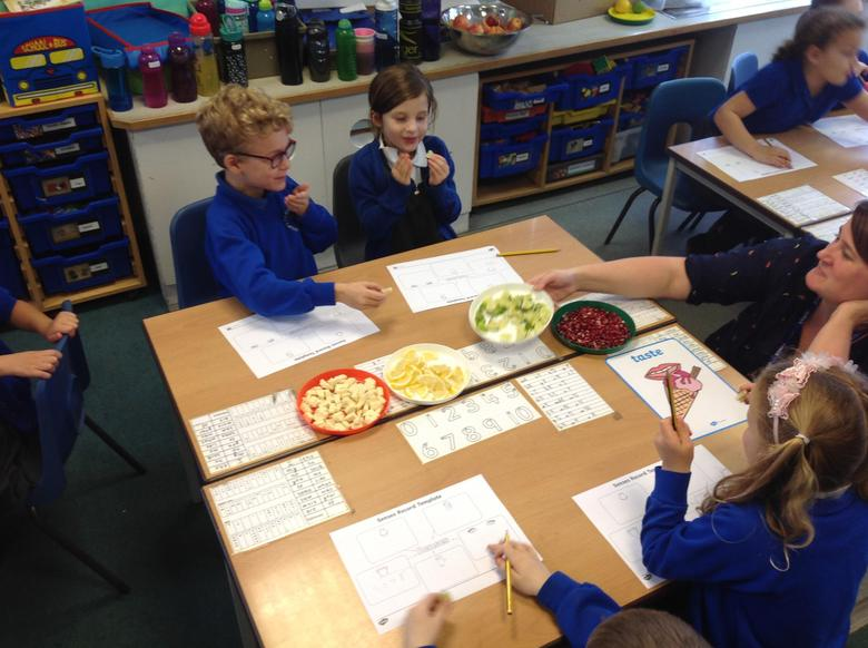 We have been testing our senses in Science!