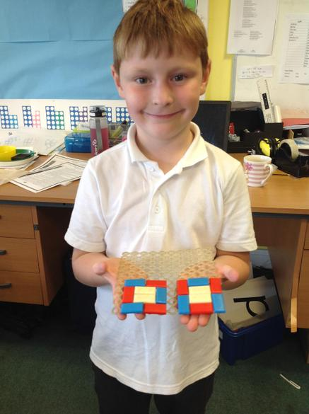 We have been making patterns in maths!