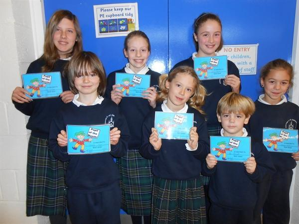 Pupils of the Month Nov 12