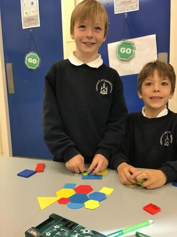Students investigated what 2D shapes tesselate.
