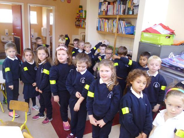 Using our Hi-Vis bands to make sure we can be seen