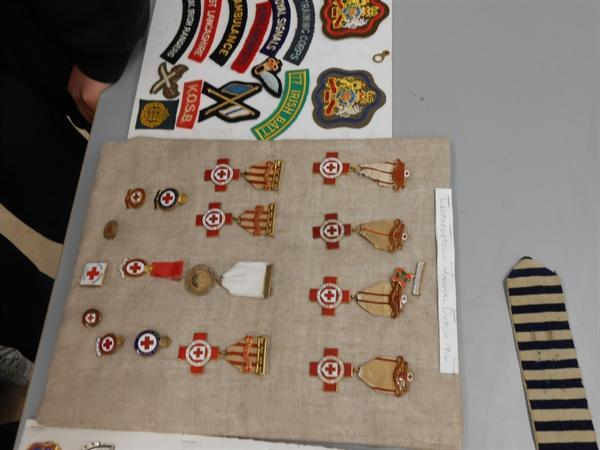 Nursing badges awarded during and after the war