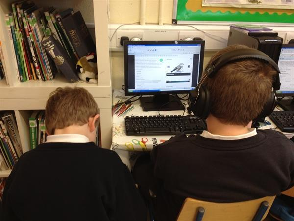 Researching bird facts on technology