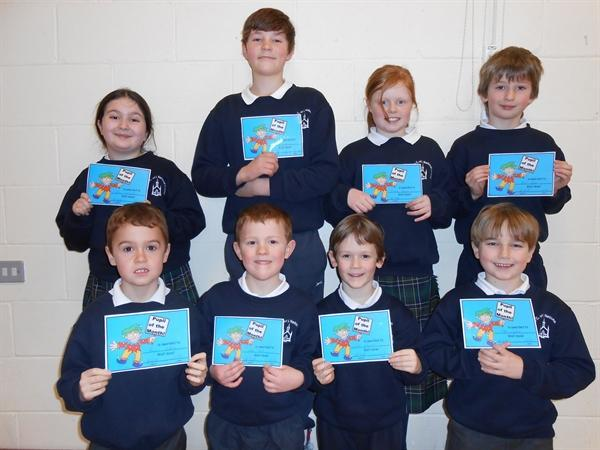Pupils of the Month Jan 13