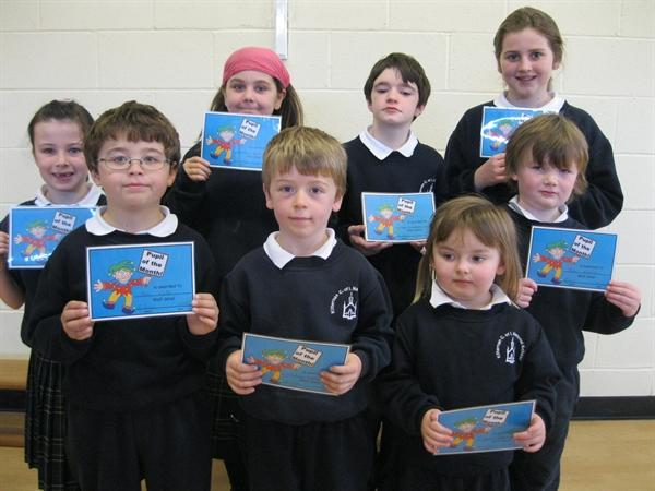 Pupils of the Month October 2012