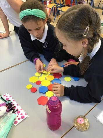 Students made tesselation patterns.