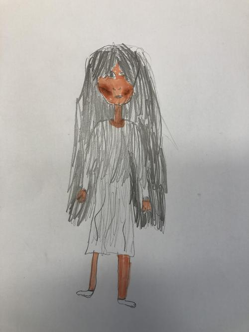The main character, Zoe, drawn by Bella.