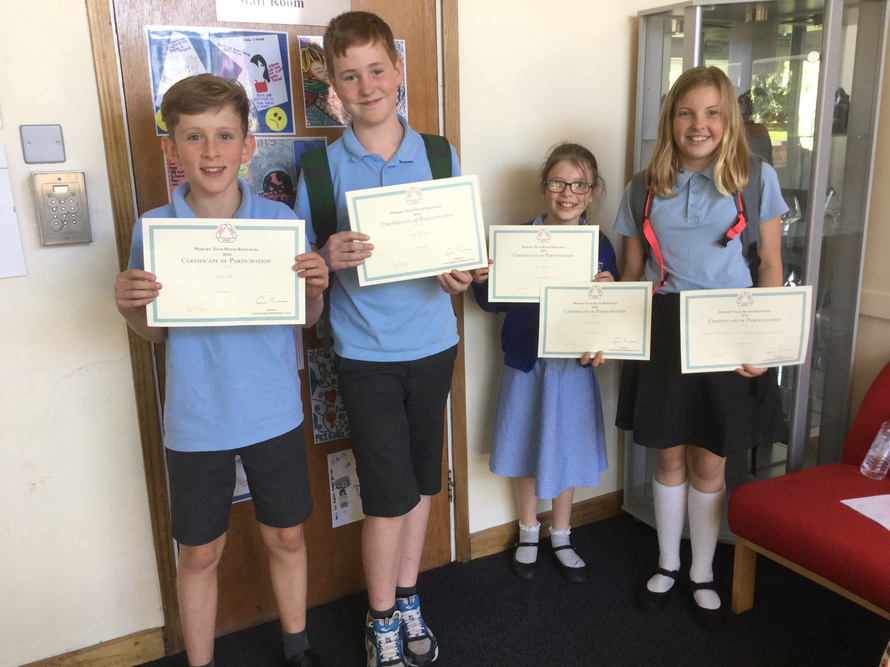 2016 Longsands' Maths Challenge Winners - Well done team KPA