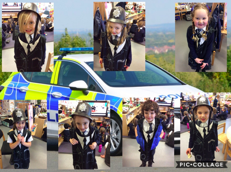 Police officers in reception!