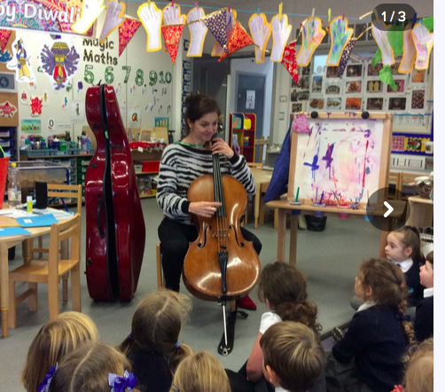 A wonderful visit from Georgina and her cello!