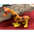Giraffe made from clay by Key worker Children