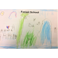 Child's picture about forest school