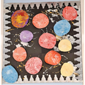 Blossom - Space! Marbling and splatter painting - March 2021