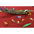 African animals made from clay by Key worker Children
