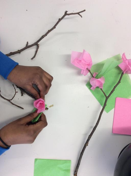 Creating Chinese tree decorations