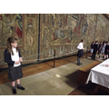 Measuring in the Great Hall.