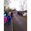 Walking back to school