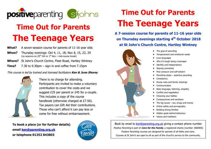 Time out for parents - the teenage years