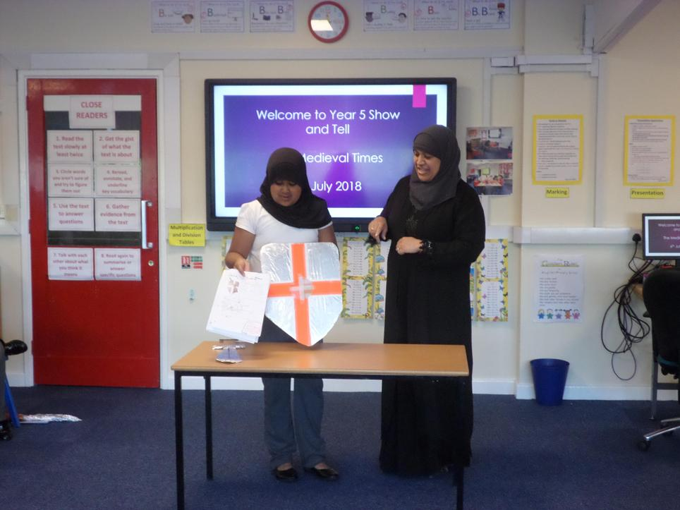 Year 5 'The Medieval Times' show & tell