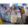 Look at Keeley's fantastic tote bag!