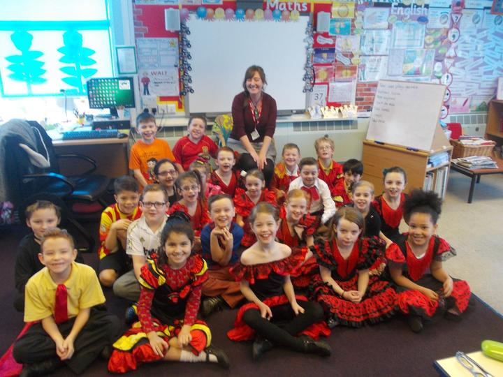 Year 3 and Michelle, our Spanish visitor