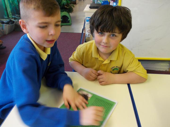 We printed our Ebooks off to read to Year 1
