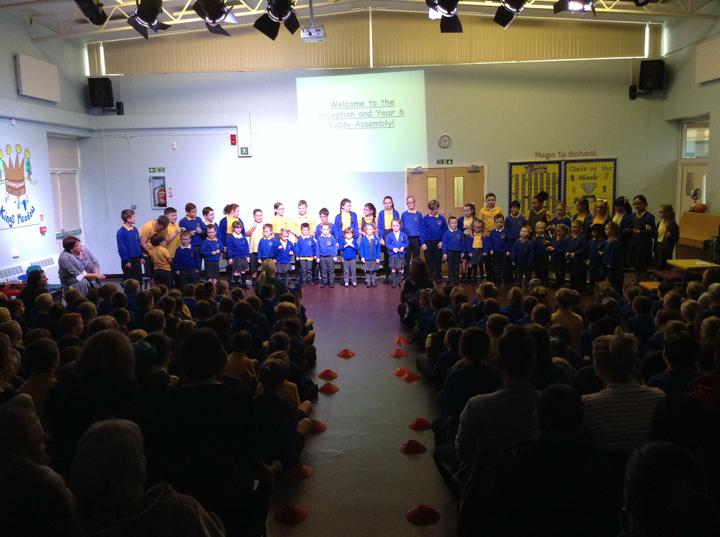 Our class were officially welcomed to Kings Meadow Primary School.
