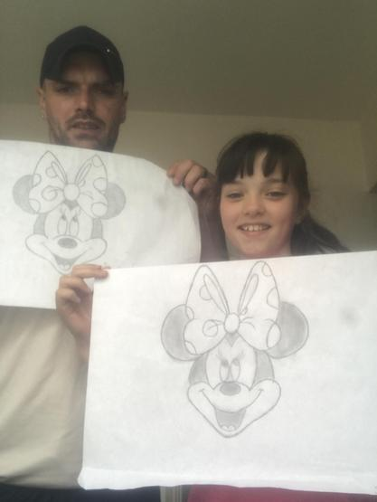 "Scarlett and her Dad drew ""Minnie Mouse�"