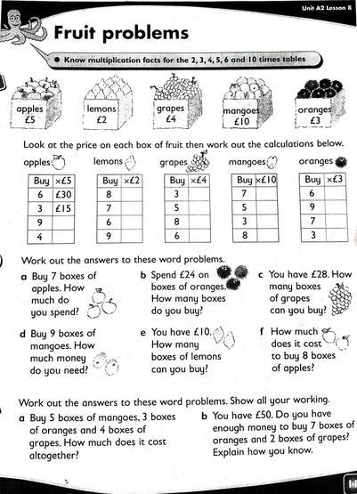Collins Fruit Problems - x2,3,4,5,10