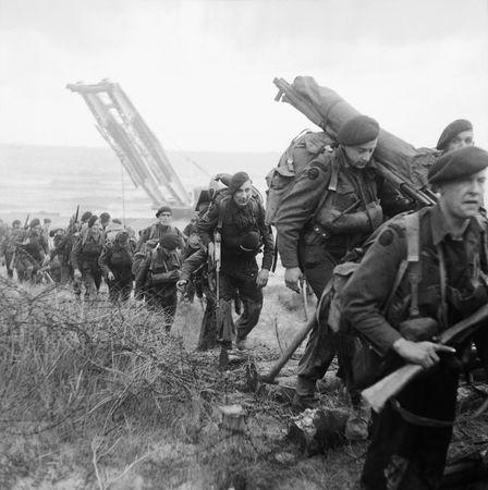 Royal Marine Commandos on Sword Beach