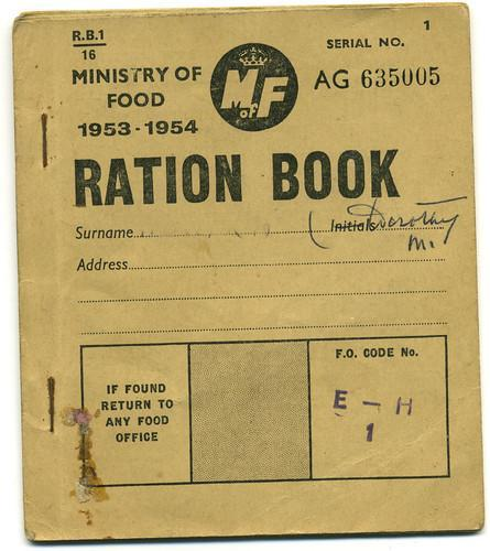 A ration book in WW2