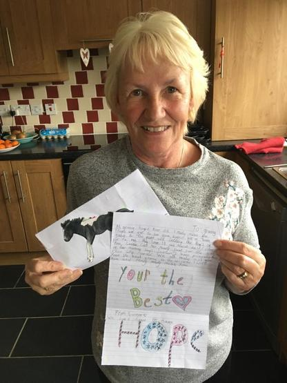 Summer's Granny loved receiving her letter!