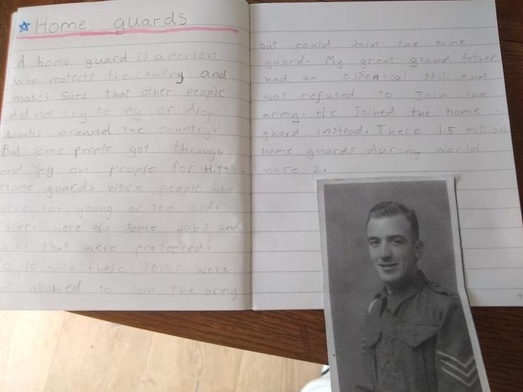 Adele's great grandfather was in the Home Guard