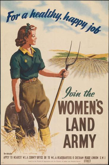 Women joined the Women's Land Army